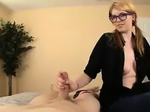 Blonde Finds Her Step-bro Wanking In Room