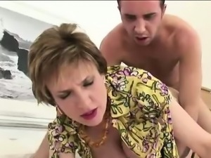 Lady Sonia rides dick and gets cum
