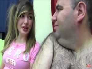 PUTA LOCURA Busty sweet teen takes her first bukkake free