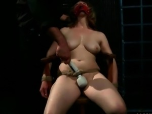 Chubby slavegirl getting painfully punished