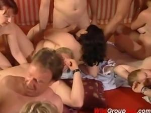 swingers in wild groupsex orgy