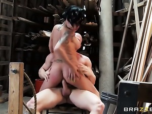 Johnny Sins explores the depth of delicious Eva Angelinas booty with his schlong