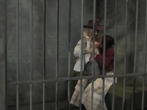 a girl wakes up in a jail