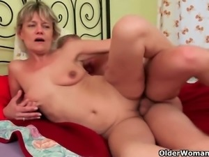 Mature sluts get banged wildly by young studs