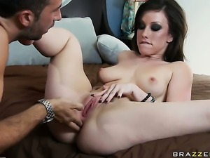 Jennifer White finds herself getting anally slam fucked by Keiran Lee after...