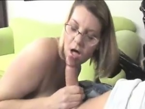 Horny Milf\'s Got Her Eyes On Young Guy\'s Large Bulge