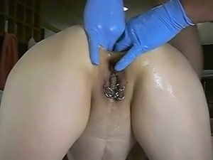 Brutal anal fist fucking destruction