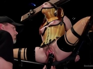 helpless bitch gets bonded