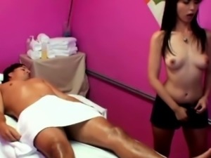 Real asian masseuse rides her customers dong