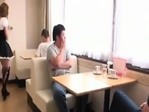 Japanese Maid Sucking And Swallowing Jizz