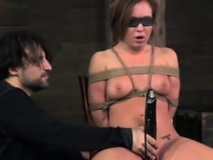 Restrained submissive gets humiliation treatment