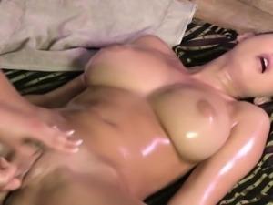 Classy lesbian fingers masseuse until orgasm