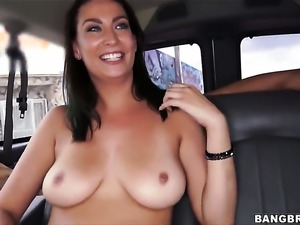 Lunch lady has some big natural tits