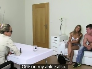 Euro girlfriend shown up with doggystyle
