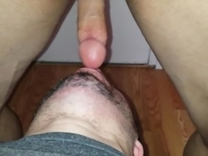 Russian whore eating my sweaty ass