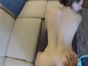 Calies tight soft pussy tested on spy glasses