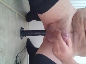 Taking my dildo