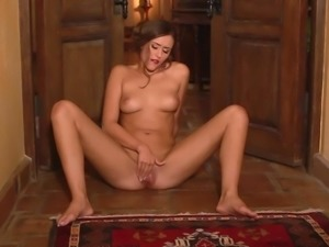 Very attractive slim babe Anastasia Black with amazing natural boobs gets...
