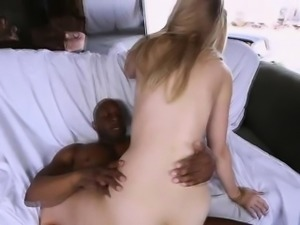 Bubble ass blonde pounded by big black cock
