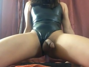 Crossdress riding dildo 11