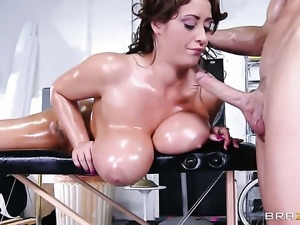 Eva Notty gets her cunt pounded good and hard by Johnny Sins in a wide...