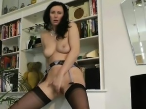 British amateur brunette mature sucking a big dick
