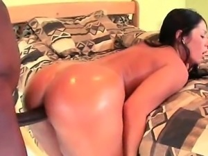 Black stud hammering wet pussy from behind