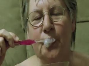 Granny's Cum Toothbrush free