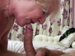 Blonde Mature gets a good Fucking