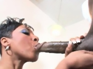 Horny milf loves to suck a huge cock