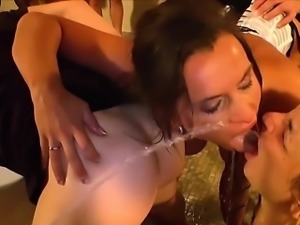 Kinky whore pissed over