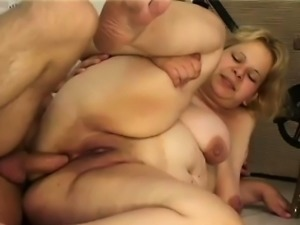 Chubby Georgie loves riding the cock