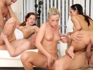 three ladies are in for orgiastic pleasures @ swinger's orgies #10