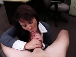 MILF fucked for her husband bail