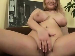 Big bobed girl masturbating