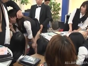 slutty asian gets fucked at work