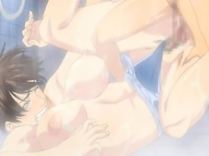 Hentai babe gets fucked from behind in the shower