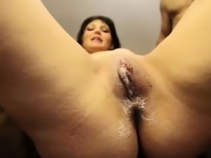 Lexxi Nicole in her first ever gangbang creampie video 2.