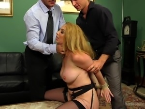 blonde milf treated in a harsh way