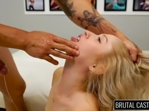 sexy goldie gets banged at casting