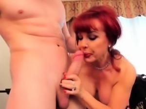Guy Crams His Cock Down A Mature Latina\'S Throat.