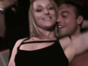Women Playing With Male Stripper At Reverse Gangbang Party