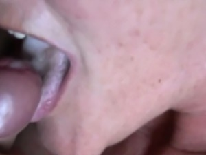 Horny Mature lady sucking and swallowing