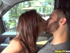 hot lady gets picked up