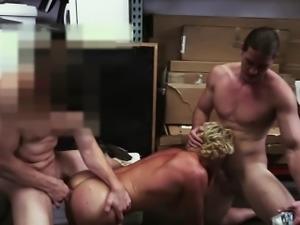 Hardcore blonde encounters gay sex
