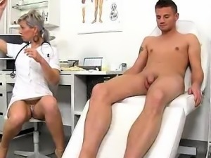 A boy receives a healthy handjob from dirty czech milf