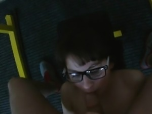 Milking A Big Dick And Getting Jizzed On