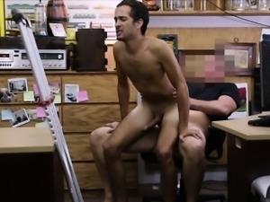 Real dude is enjoying cock threesome
