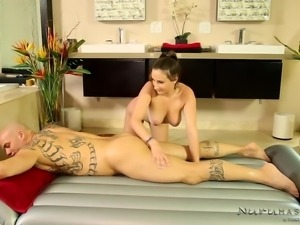 naked slut offering a kinky massage