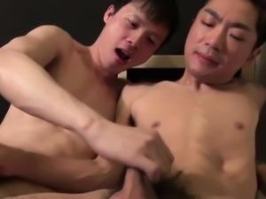 Japanese guy jizz covered